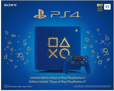 Sony PlayStation 4 PS4 1TB Limited Edition Days of Play Console Bundle NEW