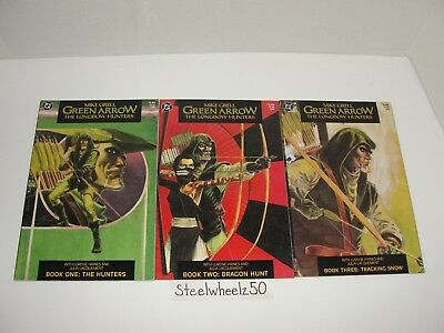 Green Arrow The Longbow Hunters #1-3 Comic Lot DC 1987 2 Mike Grell COMPLETE HTF