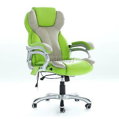 Executive Office Massage Chair Heated Vibrating Computer Gaming Racing Car Seat