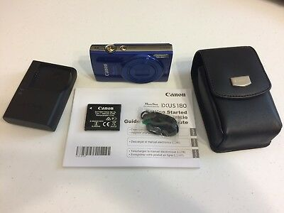 Canon PowerShot ELPH 190 IS 20.0 MP Digital Camera - Blue With Holster Case