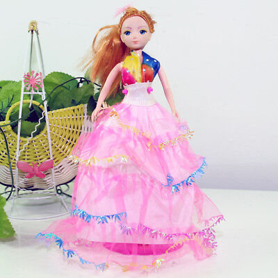 Handmade Party  RPink Dress Fashion Clothes For Barbie Doll Outfit Gown Wedding