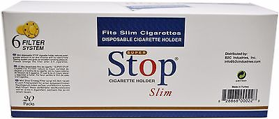 SUPER STOP SLIM Disposable Filters for SLIMS 20 packs 600 tips FREE SHIPPING