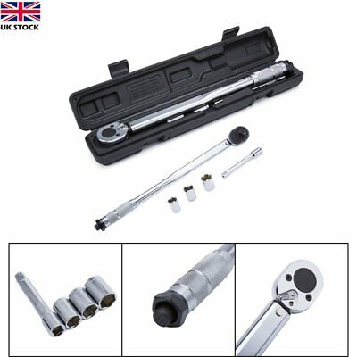 Ratcheting 1/2-Inch Drive Click Torque Wrench Socket Square Drive With Extension