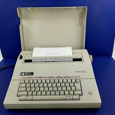 Vintage Smith Corona Electric Typewriter Model 5A Portable With Cover Working