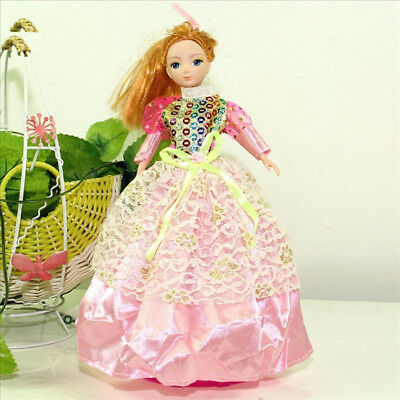 Handmade Party Dress Fashion Clothes For Barbie Doll Outfit Gown Wedding Pink