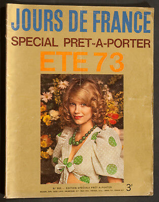 'jours De France' French Vintage Magazine Summer 1973 Fashion Issue