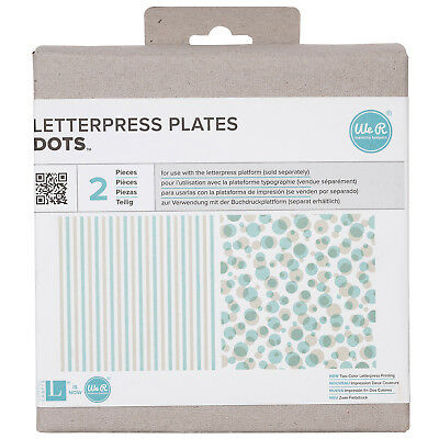 American Crafts 7 Piece We R Memory Keepers Letterpress Printing Plates Finders Keepers