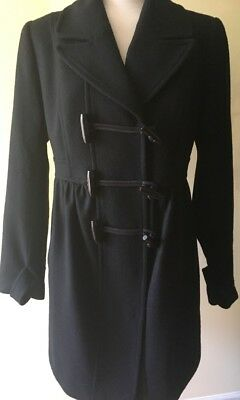 Womens A PEA IN THE POD Maternity Black Wool Pea Coat Jacket  Size Medium