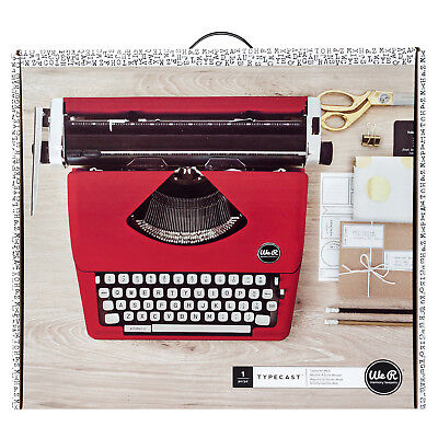 American Crafts We R Memory Keepers Typecast Typewriter - Two Color Ink - Red