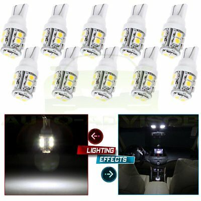 10x Ultra White T10 10SMD LED 6000K INTERIOR Light bulbs W5W 2825 158 192 168