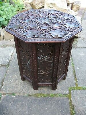 Antique Octagonal  Folding  Anglo/ Indian   Side Table