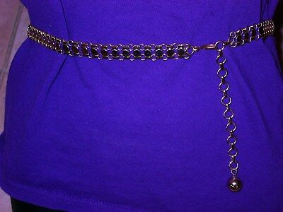 Gold Tone Chain Belt - Small - Med