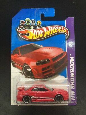 Hot Wheels 2013 Nissan Skyline R-34 GT-R Red JDM Import Rare HTF New W/case