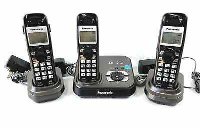 PANASONIC KX-TG9331T Dect 6.0 Cordless Phone & Answering machine w/3 Handsets
