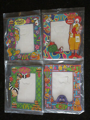 McDonalds Character Mini Photoframe Set of 4 MIP 1998 Happy Meal toy photo frame