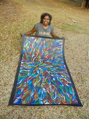 SELINA NUMINA 160 x 100 cm Original Painting - Aussiepaintings Aboriginal Art