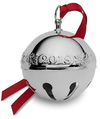 WALLACE 2018 ANNUAL SILVER PLATE SLEIGH  BELL ORNAMENT  NEW, 48th Edition