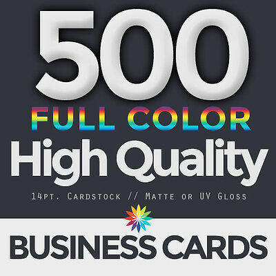 500 Full Color Business Cards Both Sides FREE DESIGN & FREE SHIPPING
