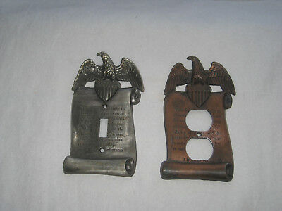 Vintage Light Switch & Outlet Cover Plate  Thomas Jefferson Eagle Freedom