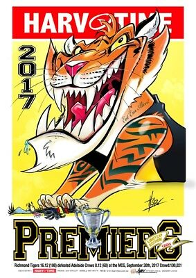 Harv Time 2017 Grand Final Print ***the Mighty Tigers***richmond