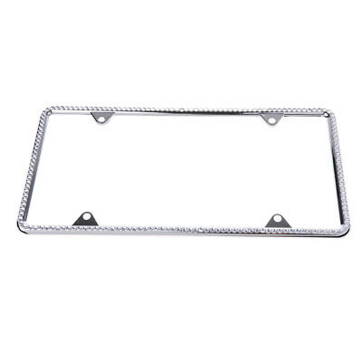CAR AUTO TRUCK Bling Crystal RhineStone License Plate Tag Frame Trim ...