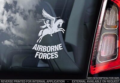 Airborne Forces - Car Window Sticker -Army Military Armed decal crest badge logo