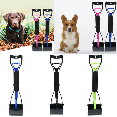 Pet Dog Puppy Cat Pooper Poop Scooper Poo Shovel Waste Pick-up Scoop Long Handle