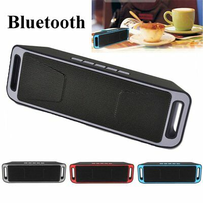 Wireless SC208 Bluetooth 4.0 Speaker Stereo Subwoofer Support FM TF LOT /o