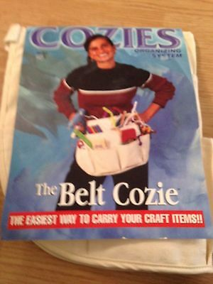 The Cozie Belt organizer Craft One Size Fits All Apron  Off white trim USA New