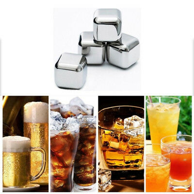 Whisky Wine Bear Cooler Stainless Steel Ice Cube Physical Cooling Tools