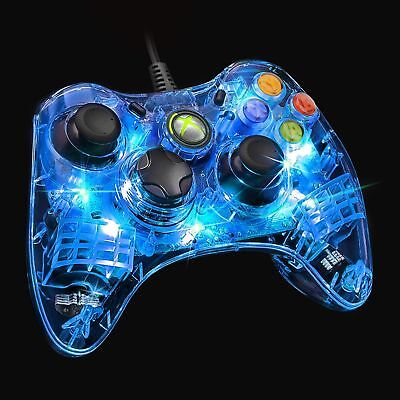 AFTERGLOW Blue LED Wired Controller For Microsoft XBOX 360  -NEW & SEALED