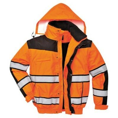 Portwest PW332 Hi Vis Viz 3in1 Classic Bomber Jacket C466 Waterproof Bodywarmer