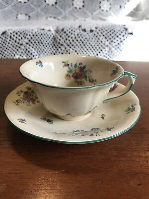 Antique Mason's Minuet Pattern Ironstone Cup and Saucer Made In England