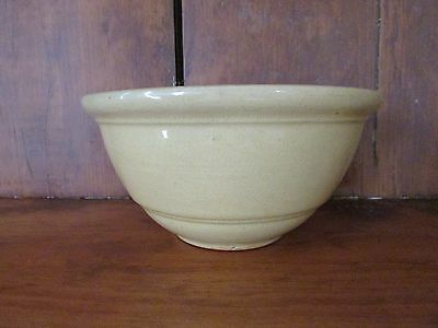 Antique Yelloware Bowl w/ Rolled Rim
