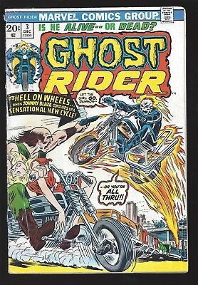 Ghost Rider   #3   (   Vg   )  ****  Sale  ****  ( Lb4)  Flaming Motor Cycles