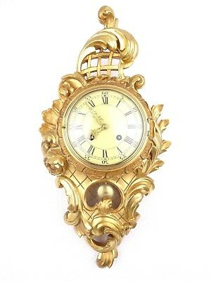 Swedish Westerstrand Vintage Rococo Antique Wall Clock Mid Century (Mora era)