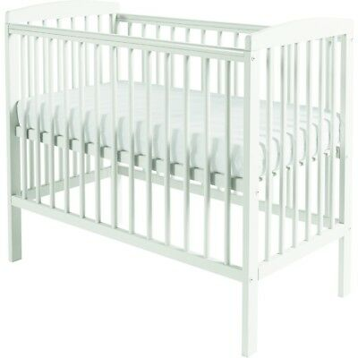 SPACE SAVER SMALL COT 4 BABY + MATTRESS  Beech  Little Cot  Perfect Small Room
