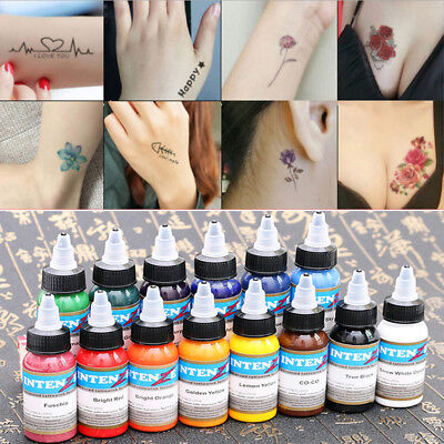 Tattoofarbe 30ml voller Farben Tätowierfarbe Ink Tattoo Kunst Tattoo 14 Farben