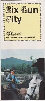 1960s Six Gun City Western Town Jefferson Nh Brochure