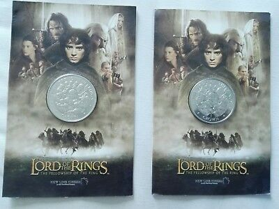 2x Lord of the Rings Crown Münze ! Limitierte Auflage von 2003 !