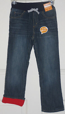 NEW Gymboree North Pole Party Red Fleece Lined Denim Jeans NWT Sizes 7 8 10