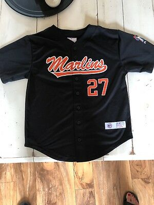 3b1bdd4f7 Giancarlo Stanton Miami Marlins MLB Replica Player Jersey Kids Youth Large  10-12