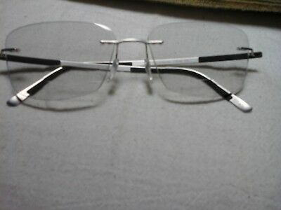 Classic Silhouette 5416 3 piece eyeglass mounting silver and black