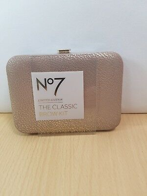 Boots No7 Limited Edition The Classic Brow Kit in Travel Case New Free P&P