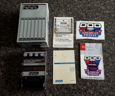 DOD FX72 Bass Stereo Flanger Vintage Effects Pedal w/Original Box USA