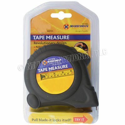 Marksman 10/5M Heavy Duty Industrial Tape Measure 25Mm Width Smooth Blade Recoil