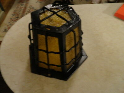 Antique Vtg Arts & Crafts Bungalow Craftsman Cottage Outdoor Porch Light Fixture