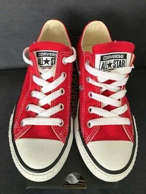 Boys/Girls Designer Converse All Star Red Low Top Trainer UK 2 BNIB
