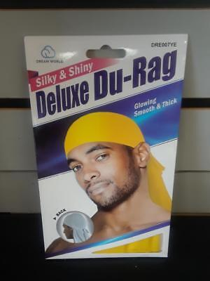 Shiny /& Silky Deluxe DuRag Set of 2// American Flag /& Green Smooth /& Thick