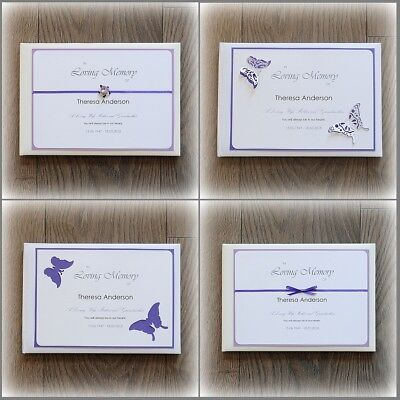 Personalised Book of Condolence/ Bereavement/ Funeral Guest Book + Luxury Box!